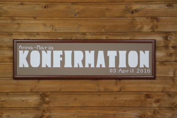 KONFIRMATION mit Namen & Datumsaufdruck, 20x80cm