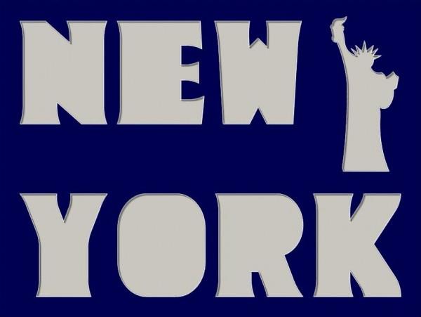 NEW YORK mit Liberty-Motiv, 30x40cm