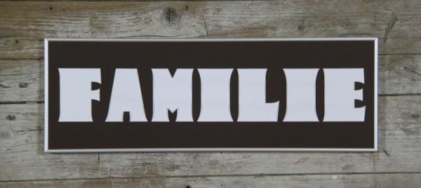 FAMILIE 20x60cm