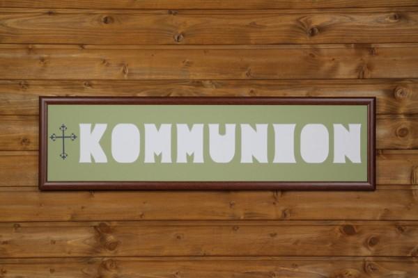KOMMUNION 20x80cm mit Kreuzsymbol