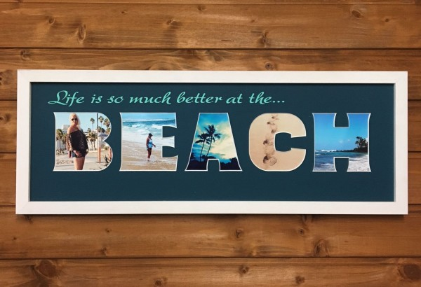 life is so much better at the BEACH, 20x60cm