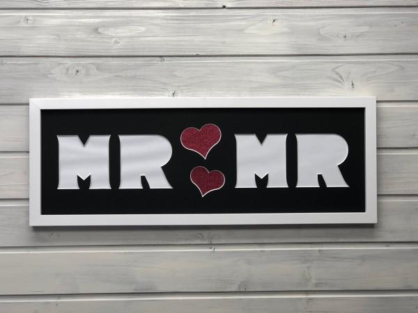 MR & MR , 20x60cm - Bilderrahmen