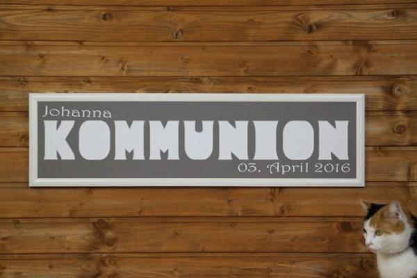 KOMMUNION 20x70cm mit Namen & Datum