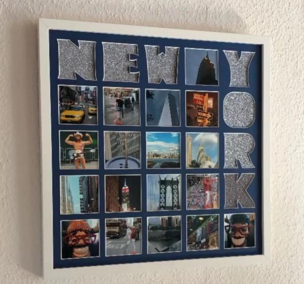 Collage New York , 50x50cm inkl. Bilderrahmen