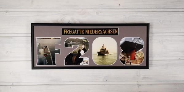 Marinepassepartout - HULLNUMMER / SCHIFFSNUMMER -15x40cm