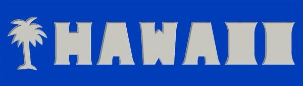 HAWAII, 20x70cm mit Palmenmotiv
