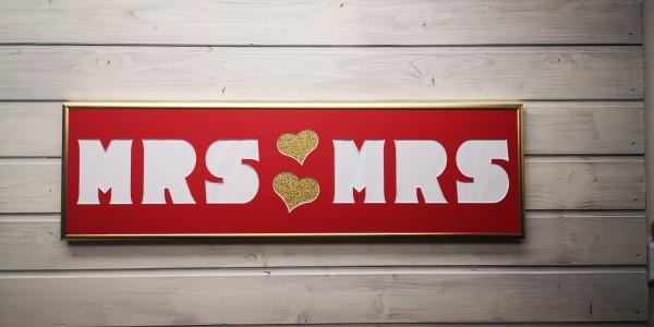 MRS & MRS , 20x70cm - Passepartout Bilderrahmen
