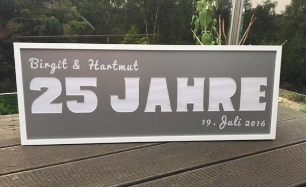 25 JAHRE, 25x70cm