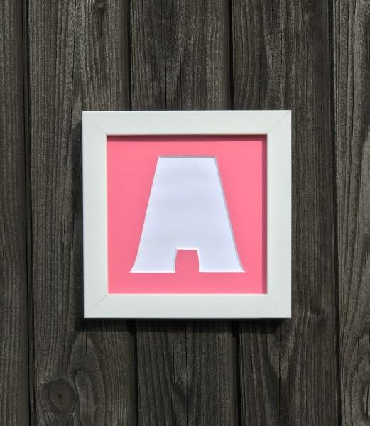 LETTERS, einzelne Buchstaben 15x15cm Passepartout