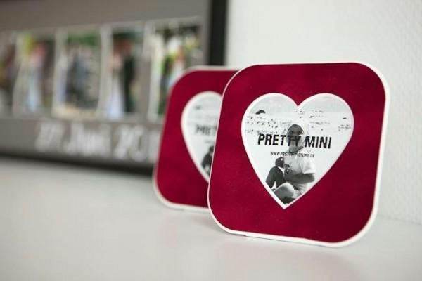 Pretty Mini - Tischkarte - Minibilderrahmen - Passepartout. 12x12cm