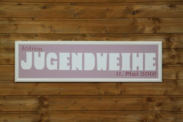 JUGENDWEIHE mit Namen & Datumsaufdruck, 20x80cm