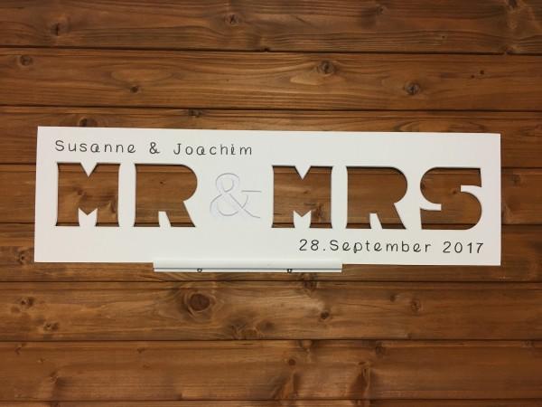 MR & MRS, 20x70cm, personalisiert