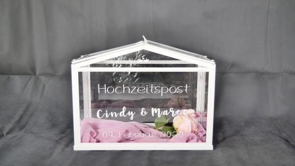 Hochzeitspost Box - Gewächshaus - Kartenbox