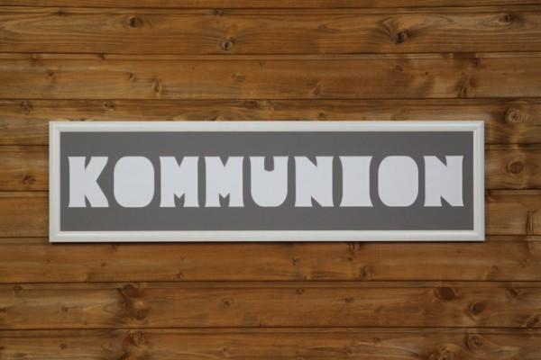 KOMMUNION , 20x80cm