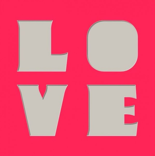 LOVE, 30x30cm Ohne Rahmen