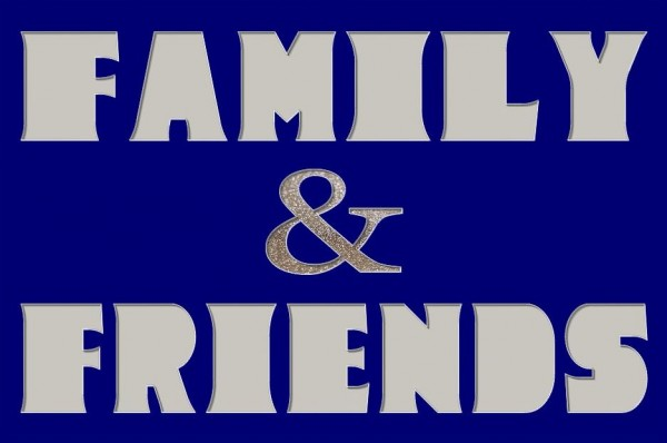FAMILY & FRIENDS, 60x40cm OHNE Rahmen