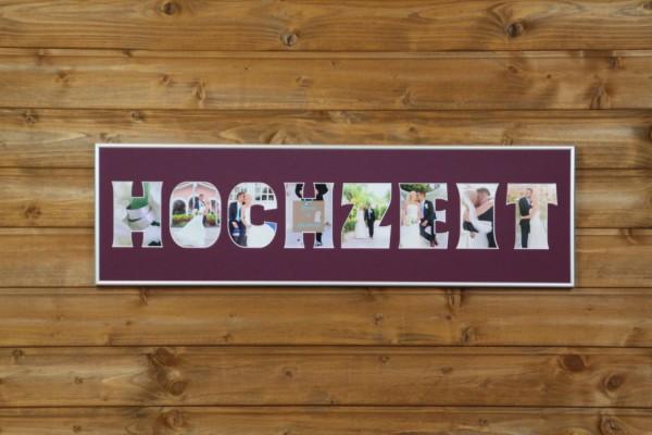 HOCHZEIT, 20x70cm, OHNE RAHMEN