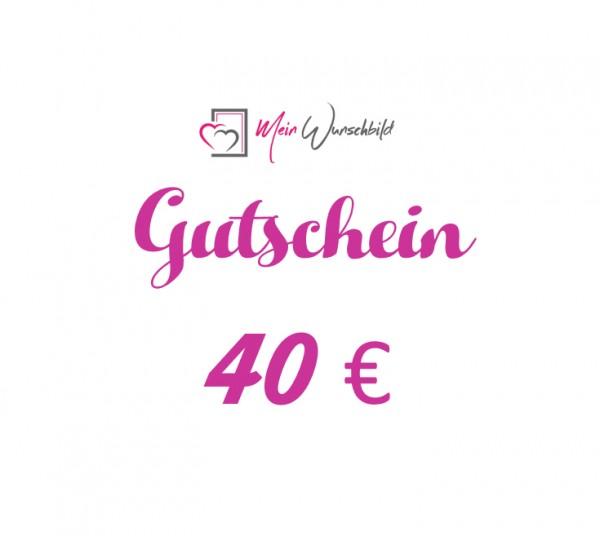 GUTSCHEIN 40€
