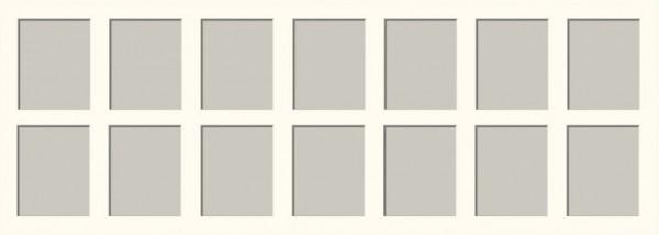 2 x 7 Ausschnitte, 2 zeilig 25x70cm inkl Rahmen