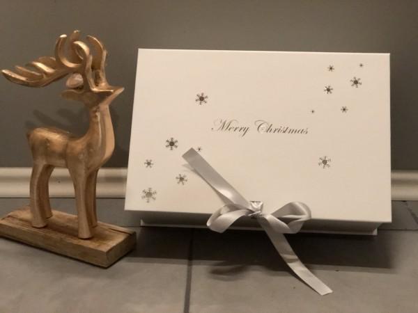 MERRY CHRISTMAS - Geschenkbox / Weihnachtsbox mit Schleife