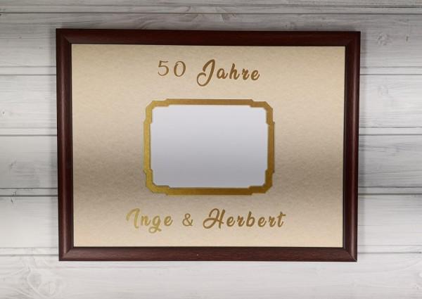 Gästebuch-Passepartout - 30x40cm, doppellagig mit Rahmen