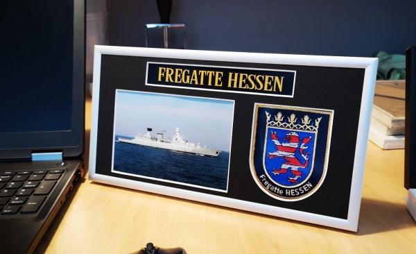 Fregatte Hessen - F221 - 15x30cm